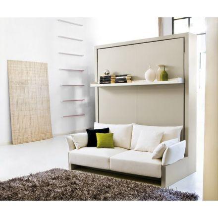 Bedkast Nuovoliola met sofa en boekenplank.